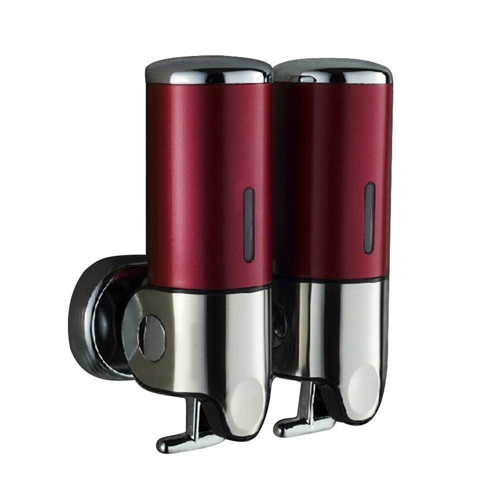 TTnight Wall Mount Shower Pump Chamber Dispenser Soap Dispensers,Double