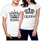 picontshirt King and Queen Couple T-Shirts White
