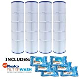 Pleatco Cartridge Filter PJAN115-PAK4 Pack of 4 Jandy CL460 A0558000 w/ 6x Filter Washes
