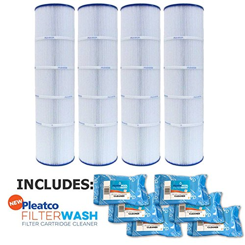 Pleatco Cartridge Filter PJAN115-PAK4 Pack of 4 Jandy CL460 A0558000 w/ 6x Filter Washes by Pleatco