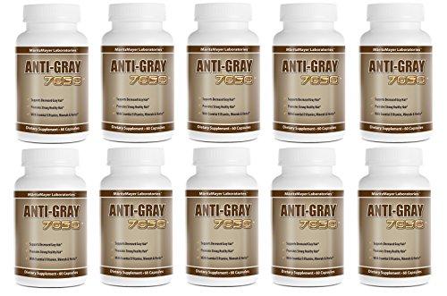 Anti-Gray Hair 7050 60 Capsules Per Bottle (10 Bottles) by MaritzMayer Laboratories