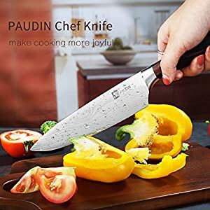 Chef's Knife – PAUDIN Pro Kitchen Knife, 8-Inch Chef's Knife N1 made of German High Carbon Stainless Steel, Ergonomic…