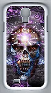 Samsung Galaxy S4 I9500 White Hard Case - M1 Skull Galaxy S4 Cases