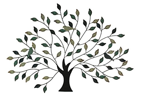 Special T Imports Metal Tree with Birds Wall Art in Blue, Brown & Cream Colors (Import Art)