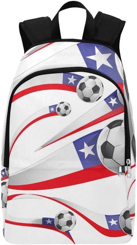 Bandera de Chile Balón de fútbol Aislado en Mochila Casual Bolsa ...