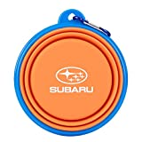 Official Subaru Collapsible Pet Bowl Travel Hiking Camping Dog Cat Pet Food Water Bowls Dishes