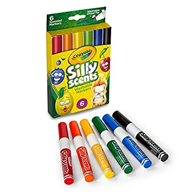 Crayola Silly Scents Scented Markers, Washable, 6Count: Toys & Games
