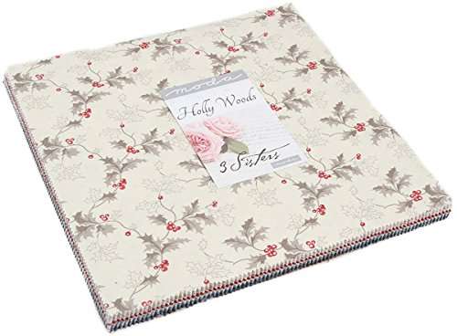 Holly Woods Layer Cake, 42-10 inch Precut Fabric Quilt Squares by 3 Sisters