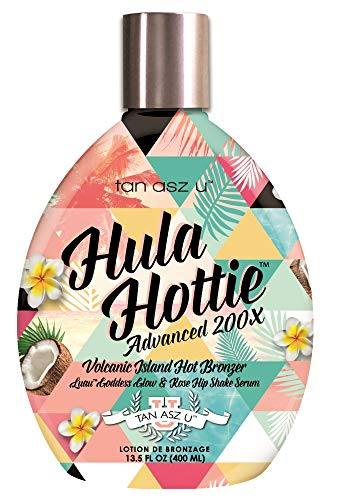 (Hula Hottie Advanced 200X Volcanic Island Hot Bronzer Tanning Bed Lotion 13.5 ounce)