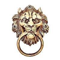 Esplanade Brass Lion Face Mouth Door Knocker, Door Accessories, Gate Knocker