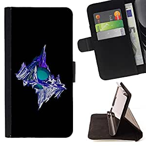For Samsung Galaxy S4 Mini i9190 (NOT S4) Case , Iceberg- la tarjeta de Crédito Slots PU Funda de cuero Monedero caso cubierta de piel