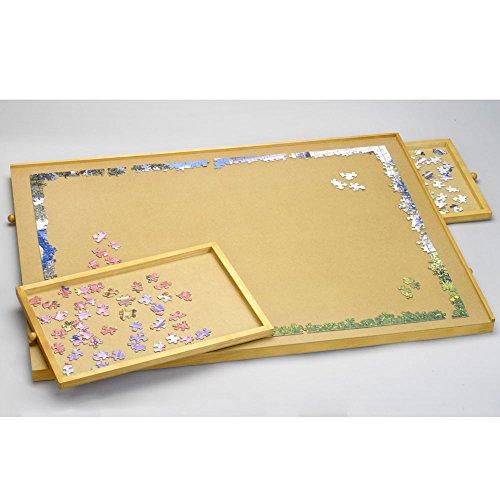 Wooden Storage Jigsaw Puzzle Fiberboard Work Surface