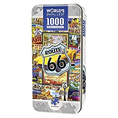 Masterpieces Route 66 Worlds Smallest 4 X 8 Tin Jigsaw Puzzle 1000 Piece By Masterpieces Puzzle Co