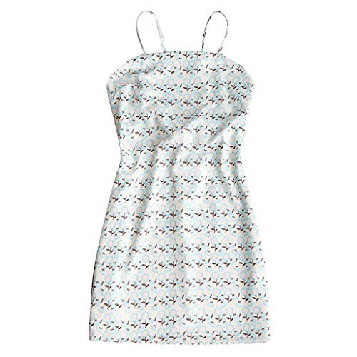 Clothful ?? Women Dress, Women's Sexy Breast-Wrapped Spliced Lemon Printed Suspended Dress ()