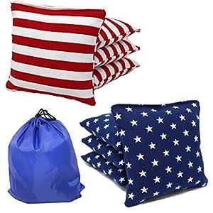 Free Donkey Sports Regulation Cornhole Bags (Set of 8) Stars and Stripes Expedited Shipping