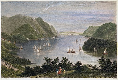 View Of Hudson River 1837 Nview Of The Hudson River From West Point New York Steel Engraving 1837 After A Drawing By William Henry Bartlett Poster Print by (24 x 36)