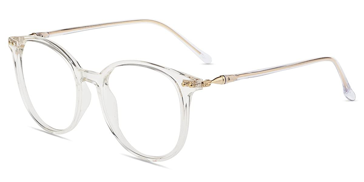 f9585f80ee17 Amazon.com: Firmoo - Blue Light Blocking, Anti-Reflective,UV Coating 100%  Computer Round Vintage Optical Eyewear Glasses (Non-prescription, Clear  Frame): ...