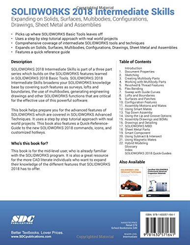 solidworks 2018 intermediate skills paul tran 9781630571641 rh amazon com Training Quick Reference Guides Quick Reference Guide Layout