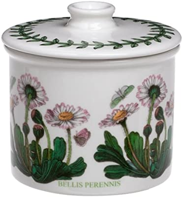 Portmeirion Botanic Garden Drum Shaped Covered Sugar Bowl