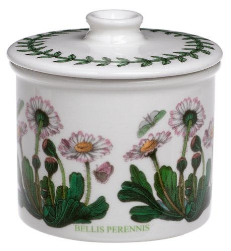 Portmeirion Botanic Garden Drum Shaped Covered Sugar -