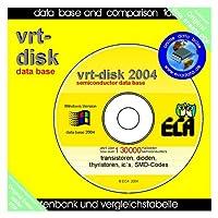 vrt-disk 2004: Datenbank für Transistoren, Dioden, Thyristoren und ICs auf CD-ROM. Über 130000 verschiedene Halbleiter mit Vergleichstypen und SMD Codetabellen.