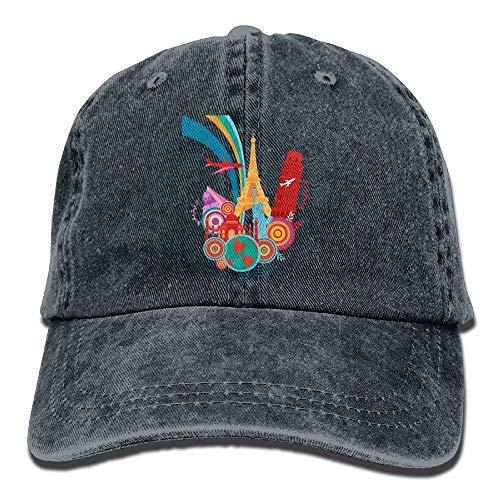 J.Lambert Creative Design Denim Baseball Caps Hat Adjustable Cotton Sport Strap Cap for Men Women
