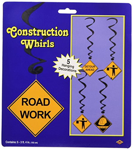 [Construction Whirls  (5/Pkg)] (Road Sign Halloween Costumes)