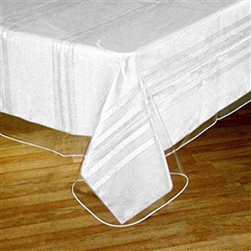 Home Essentials Clear Vinyl Tablecloth Protector Square 54 X 54