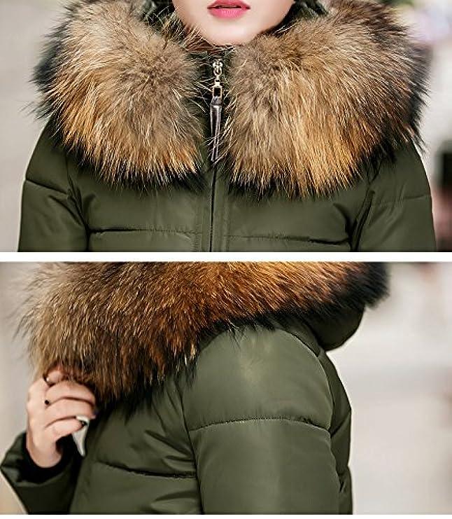Pelliccia Giacca Imbottita Winter Women's Acelyn Lunga Cappuccio E Cerniera Con Coat Bwtvxq