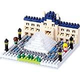 Kawada NBH_086 Nanoblock The Louvre Museum Building Kit