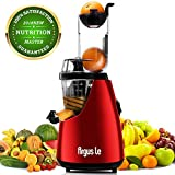 Juicer, Argus Le Slow Masticating Juicer Extractor, 3″ Wide Chute Cold Press Juicer Machine, Low Speed Juicer for High Nutrient Fruit and Veggies Juice Review