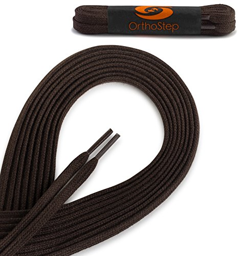 OrthoStep Cotton Flat Dress Shoelaces