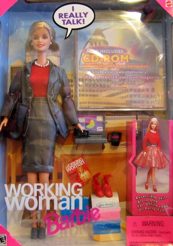 Barbie Working Woman Talking Doll w CD-ROM (1999)