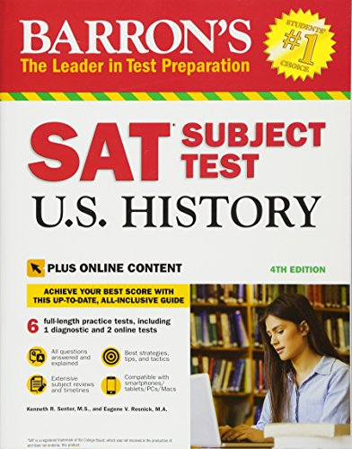 Barron's SAT Subject Test U.S. History, 4th Edition: with Bonus Online Tests