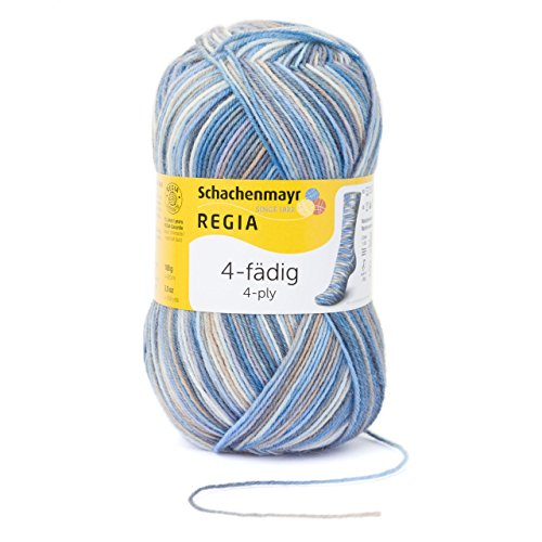 (Regia 4-Fadig Color - 4 Ply Sock Coloured 100gm 05030 Sylt Color)