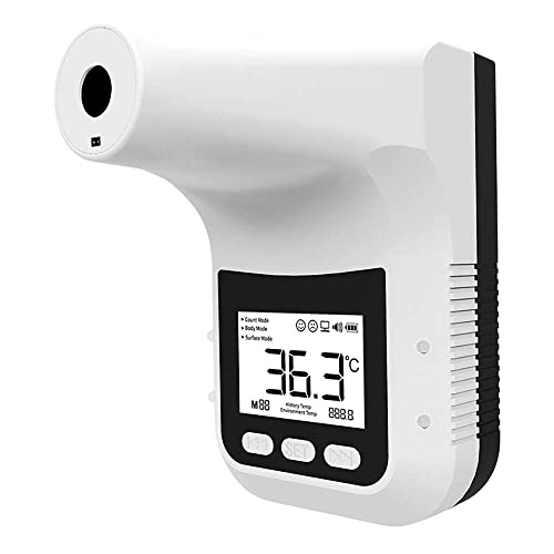 JIAHUKANG Forehead Wall-Mounted Thermometer, Infrared Thermometer for Humans Non-Contact with Digital LCD Display, Fever Alarm for Factories, Shops,Rail Station Entrances, School Office