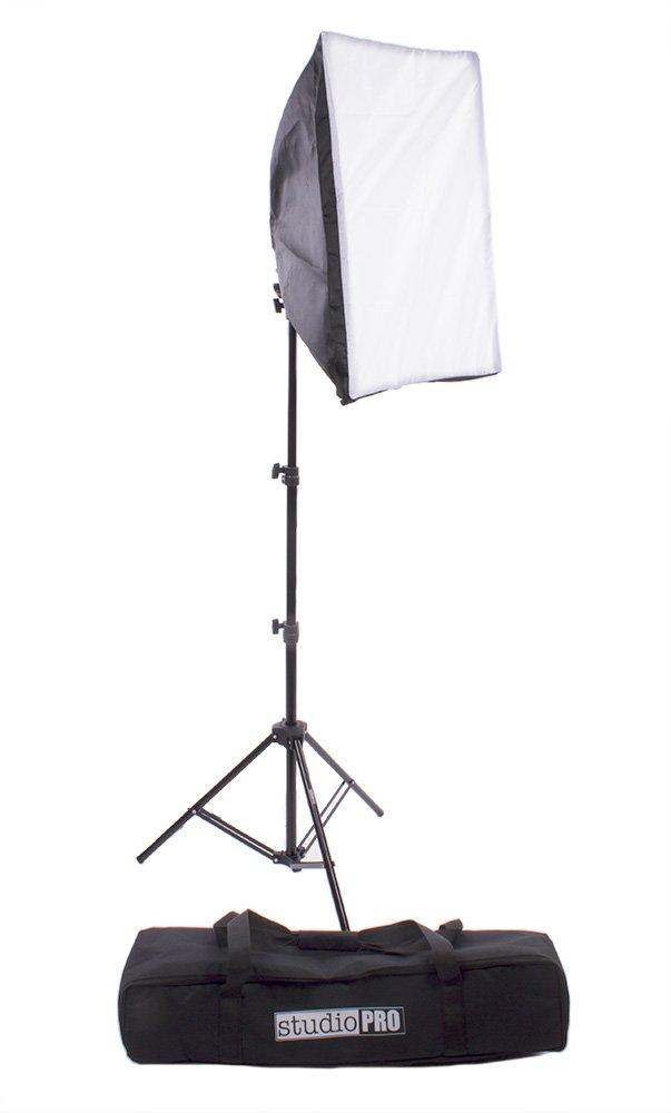 Fovitec StudioPRO 900 Watt Photography Continuous Photo Video Studio 16'' x 24'' Softbox Lighting Light Kit for Portrait and Film With Bag