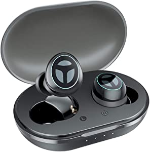[Upgraded Version] TRANYA B530 Bluetooth 5.0 Deep Bass True Wireless Earbuds, Aptx/AAC Compatible Sports Wireless Headphone with CVC8.0 Noise Cancellation, 80 Hours Playtime with Charging Case