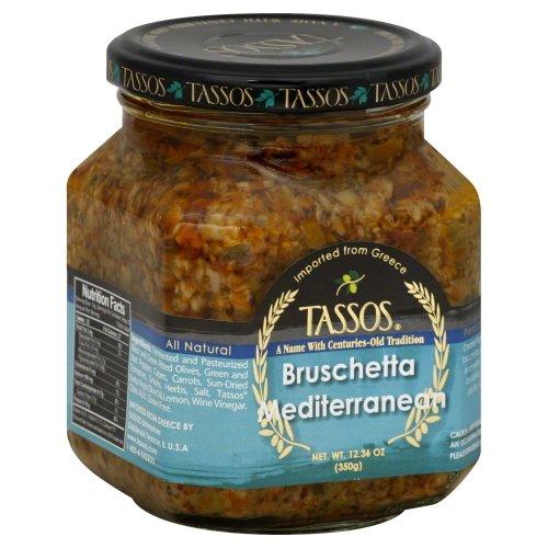 Tassos Mediterranean Bruschetta, 12.36 Ounce -- 6 per case. by Tassos