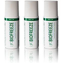 Biofreeze Pain Relief Gel for Arthritis, 3 oz. Roll-On (Pack of 3), Cold Topical Analgesic, Fast Acting & Long Lasting Cooling Pain Reliever for Muscle, Joint, & Back Pain, Original Green Formula