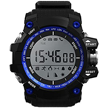 Easyfone Rugged Sport Smart Watch, IP-68 Waterproof Bluetooth Sport Smartwatch with Android and