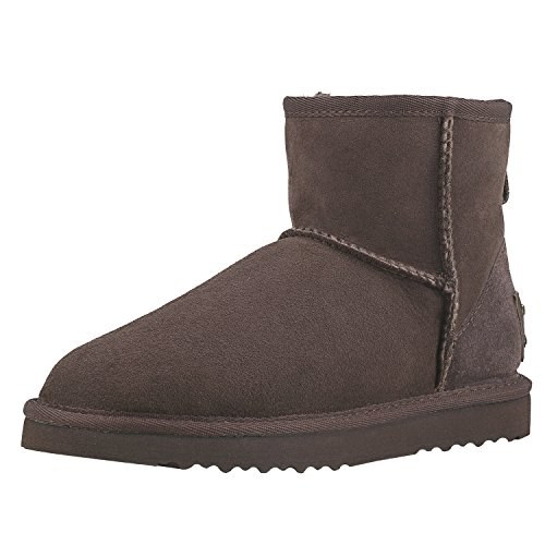 Antideslizantes DV5854 para Mujer Zapatos de Chocolate Shenduo Nieve Invierno Botas BwfqnZX7