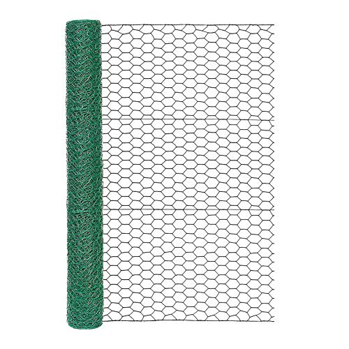 Garden Zone 173625 36 Inches x 25 Feet Gauge Poultry Netting, 36 x 25 , Green
