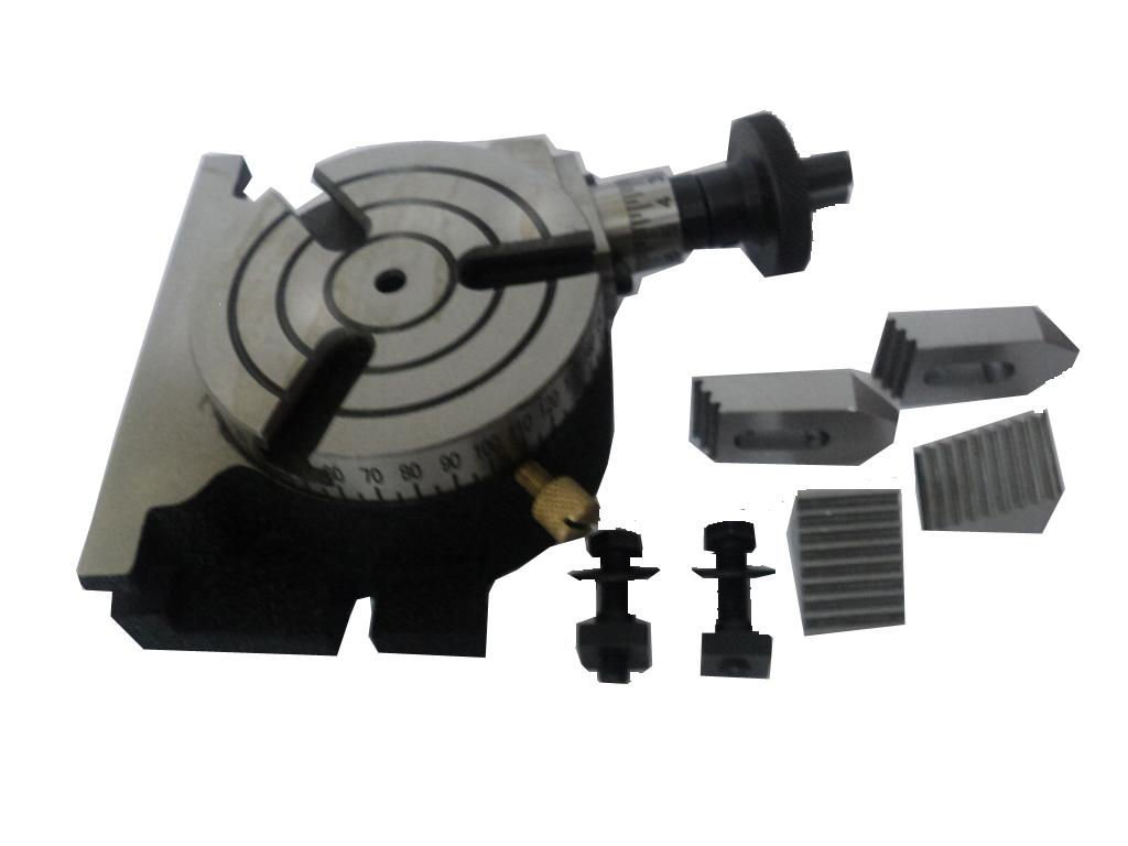 3'' Inches (75 mm) Quality Rotary Table -3 Slots for Milling+ Clamp Kit Set M6