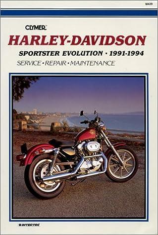 clymer harley davidson sportster evolution 1991 1994 m429 ron rh amazon com 1991 Harley Sportster Specs Used Harley Sportster 1200