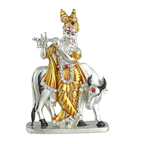 Odishabazaar KRISHNA COW TWO TONE COLOUR for Car Dashboard / Home / Office / Perfect Gift Item