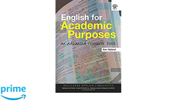 Advanced resource book for english purposes academic an