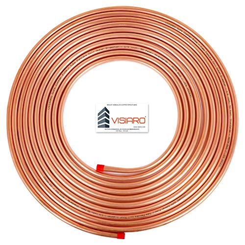 Visiaro Soft Copper Pipe/Tube Pancake Coil, Outer Diameter – 1/4 inch and Wall Thickness – 23 guage, Pack of 1 pcs Price & Reviews