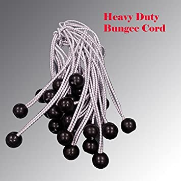 Premium Grade 4mm (3/16u0026quot;) Bungee Cord Ball Bungees Canopy Tie Downs & Premium Grade 4mm (3/16