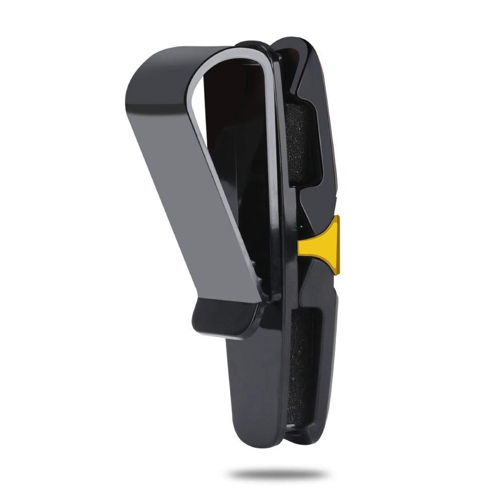 Gold,2 Pack KIPIDA Glasses Holder for Car Sun Visor 2 Pack Double-Ended 180 Degree Rotatable and Built-in Sponge Sunglasses Eyeglasses Clip Hanger with Card Ticket